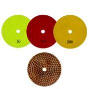 Disco de Desbaste Flexível Para Mármores, Granitos e Pedras Ornamentais Metal-Flex 100mm - Colar