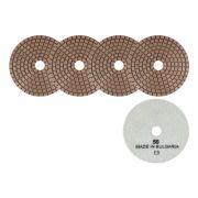 Disco de Desbaste Flexível Para Mármores, Granitos e Pedras Ornamentais Cobre 100mm - Colar