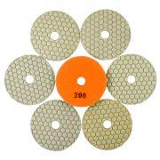 Disco de Polimento Flexível para Mármores e Granitos Dry Flex 100mm - Colar