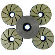 Disco Para Polimento de Borda Reta Poliborda 5 Estágios 125mm - Colar