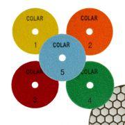 Disco de Polimento Flexível 5 Estágios Dry Flex Para Mármores e Granitos 100mm - Colar