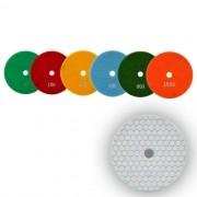 Disco de Polimento Flexível Para Mármores, Granitos e Pedras Ornamentais Dry Flex Branco 125mm - CH