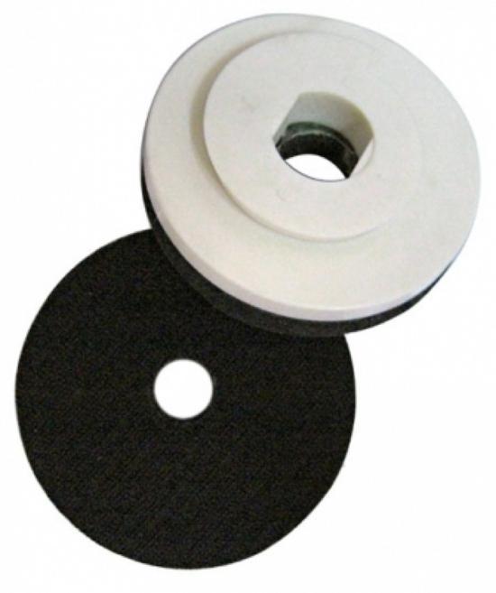 """Suporte Lixa 4"""" Caracol Com fecho de contato e Espuma Branco - DM  - COLAR"""