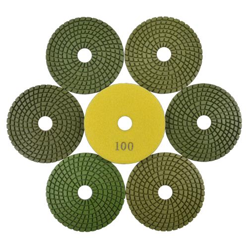 Disco de Polimento Flexível para Mármores e Granitos 100mm  - Colar  - COLAR