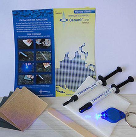 Kit Resina Fotocuravel LCA Clear Transparente Para Mármore e Granitos - CeramiCure  - COLAR