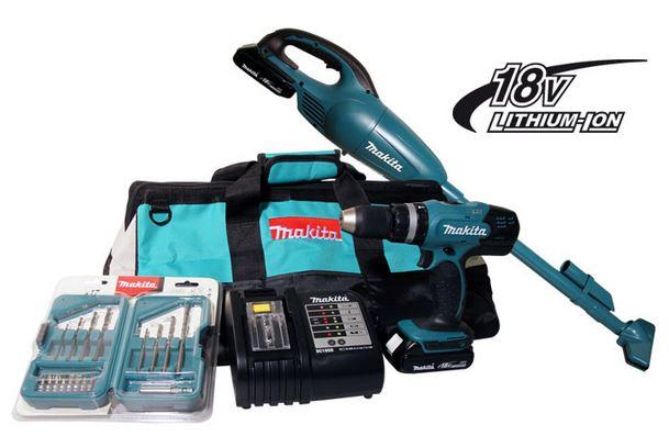 Kit Combo DHP453 DLX2056SY1 a Bateria - 220V Makita  - COLAR