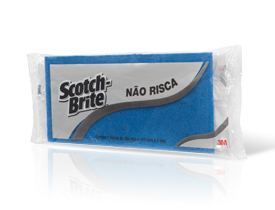 Fibra Para Limpeza Não Risca Azul Pacote com 2 - 3M  - COLAR