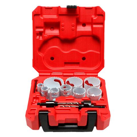 Kit de Serras Copo Para Furos de Uso Geral - 13 peças - Milwaukee - 49 22 4025  - COLAR
