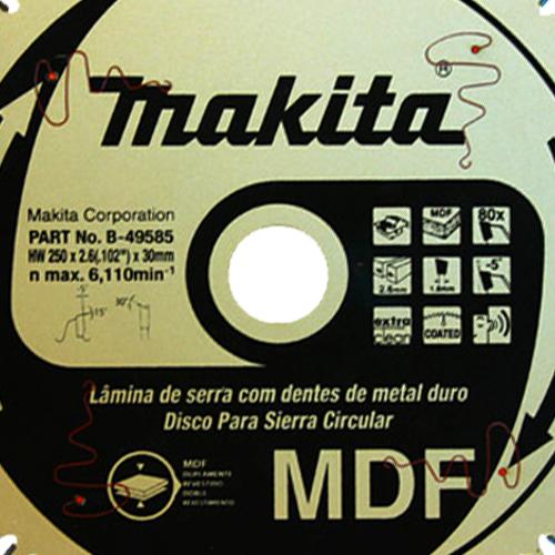 Disco de Serra MDF 250mm B49585 - Makita  - COLAR