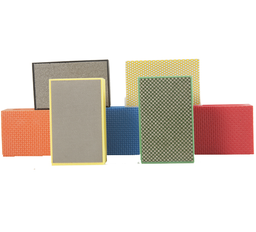 Placas Abrasivas 90 x 55 mm - Para polimento de mármores e granitos  - COLAR