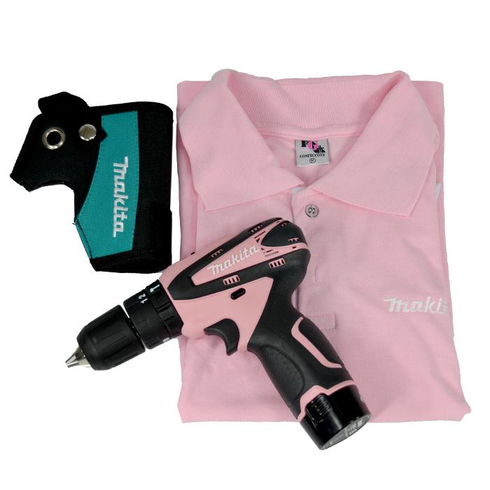 Parafusadeira / Furadeira de Impacto Rosa HP330DWEP - Makita  - COLAR