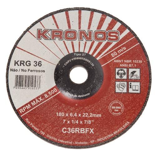 Disco Desbaste Kronos 180mm  - COLAR
