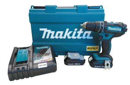 Parafusadeira / Furadeira de Impacto à Bateria  DHP482RAE-PM 18V-Bivolt - Makita  - COLAR