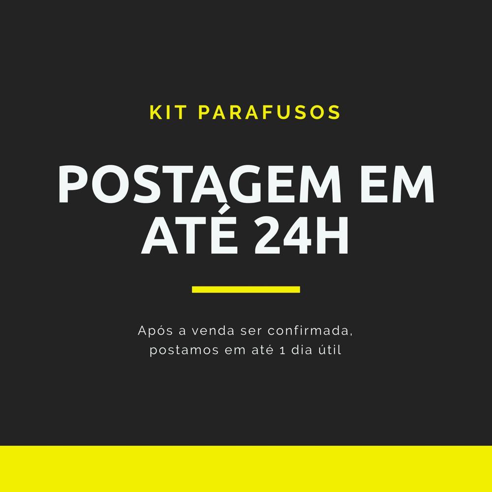 Kit 803 Peças Parafusos Bicromatizados Pitões, Ganchos e Chaves