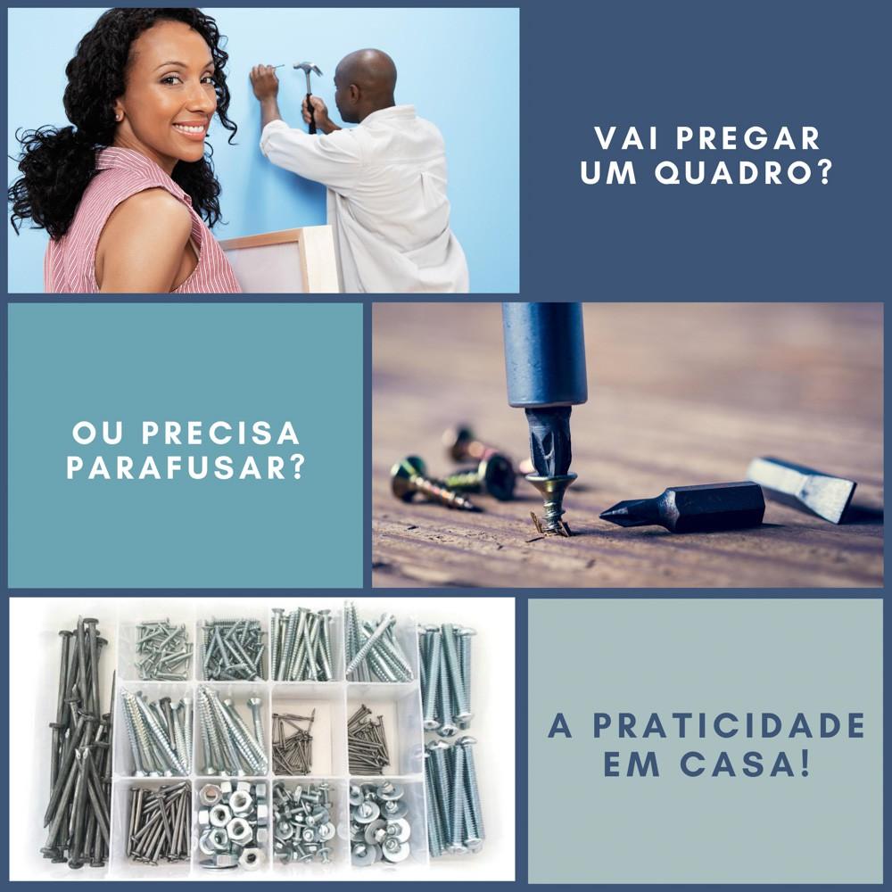 Kit Big Special - 600 Peças - Parafuso Porca Arruela E Caixa