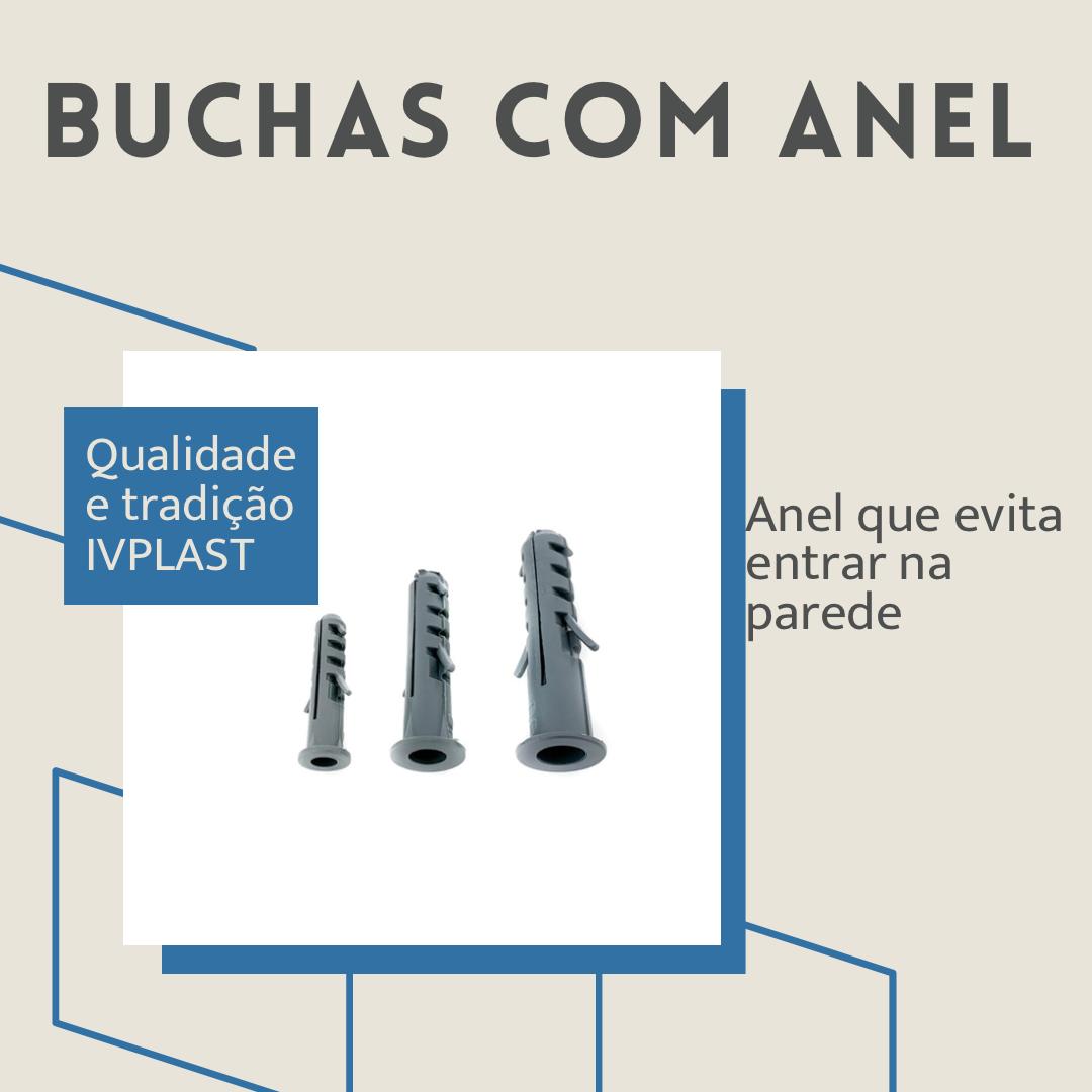 Kit Jogo Buchas c/ Anel 300 Unidades 6mm 8mm 10mm (100 Cada)