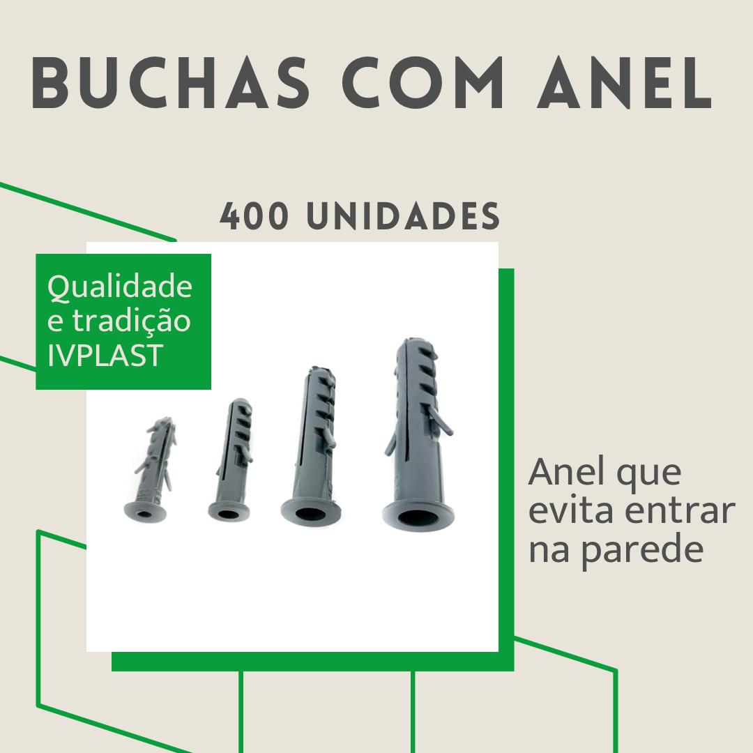 Kit Plus Buchas Com Anel 400 Unid. 5, 6, 8, 10 - 100 Cada