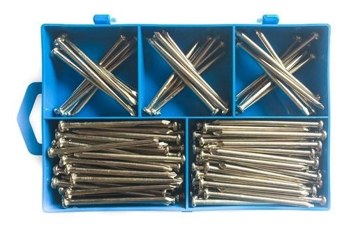Kit Plus Com 600 Pregos De Aço E Caixa Organizadora
