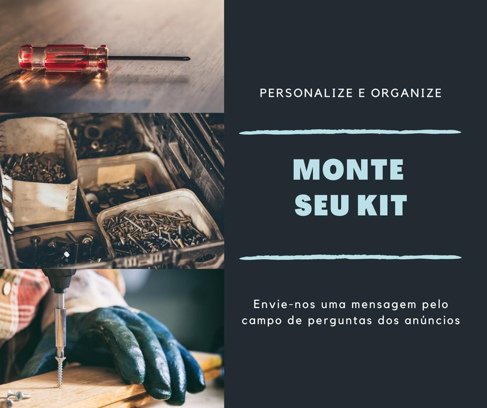 Kit Premium 2390 Parafusos Rosca Máquina, Porca, Arruela e Prego