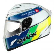 Capacete Shark Race-R Pro Original Brasil WBY Cor: Amarelo Azul