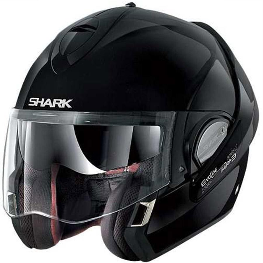 capacete shark evoline serie 3 fusion aberto cor preto brilhante. Black Bedroom Furniture Sets. Home Design Ideas