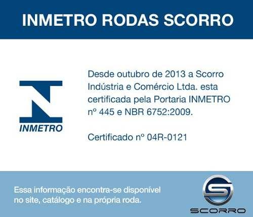 Jogo de 4 Rodas de Liga-Leve Aro 14 Scorro S-205 4x100 (Original Gol Power) - COR: FOSCA