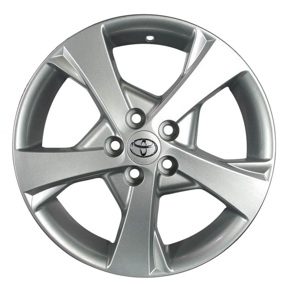 Jogo de 4 rodas de liga leve aro 16 krmai r30 4x100 original toyota corolla cor prata