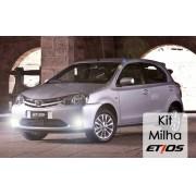 Kit Farol Milha Toyota Etios Hatch/Sedan 2012 2013