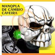 Manopla Bola Câmbio Caveira Branca Tunning Universal Skull Alavanca