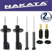 Jogo 04 Amortecedores Nakata Citroen C4 Hatch Vtr Pallas e Peugeot 307 2007 Até 2013 + Kit da Suspensão