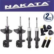 Jogo 04 Amortecedores Nakata Corolla 2008 Até 2013 + Kit da Suspensão