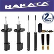 Jogo 04 Amortecedores Nakata Corsa Hatch Wind Super 1994 Até 2002 Celta 2000 Até 2015 Corsa Classic 2003 Até 2012 Prisma 2006 Até 2012 + Kit da Suspensão