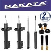 Jogo 04 Amortecedores Nakata Novo Corsa Hatch e Sedan 2002 Até 2013 + Kit da Suspensão