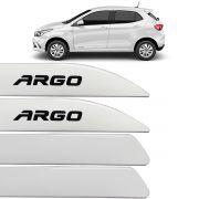 Jogo Friso Lateral Argo 2017 Até 2018 Branco Banchisa