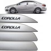 Jogo Friso Lateral Corolla 2015 Até 2018 Prata Super Nova