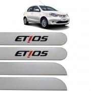 Jogo Friso Lateral Etios Hatch e Sedan 2012 até 2017 Branco Perola