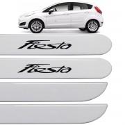 Jogo Friso Lateral Ford Focus 2009 até 2013 Branco Artico