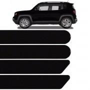 Jogo Friso Lateral Jeep Renegade 2015 2016 2017 Preto Shadow