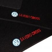 Tapete Carpete Personalizado Logo Bordada Saveiro Cross Cd 2014 até 2015