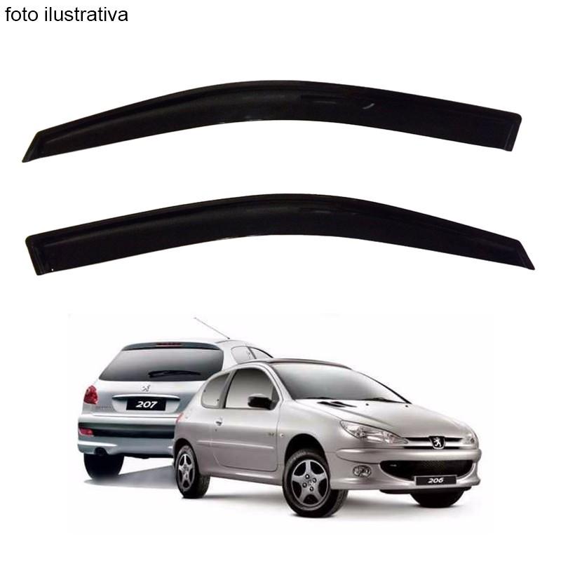 Calha de Chuva Defletor Fumê Peugeot 206 e 207 2 Portas