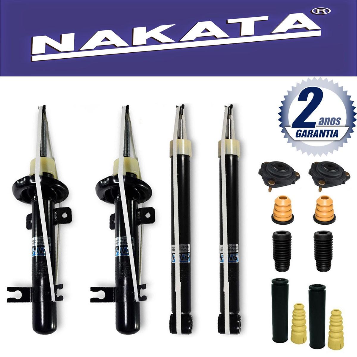 Jogo 04 Amortecedores Nakata Ford Fiesta Hatch e Sedan 2003 Até 2013 + Kit da Suspensão