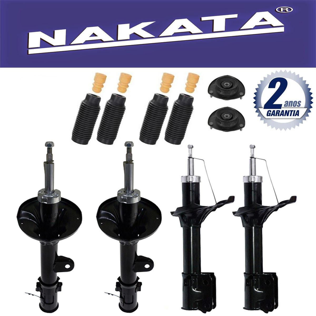 Jogo 04 Amortecedores Nakata Hyundai Tucson 2005 Até 2014 Sportage 2006 Até 2010 + Kit da Suspensão