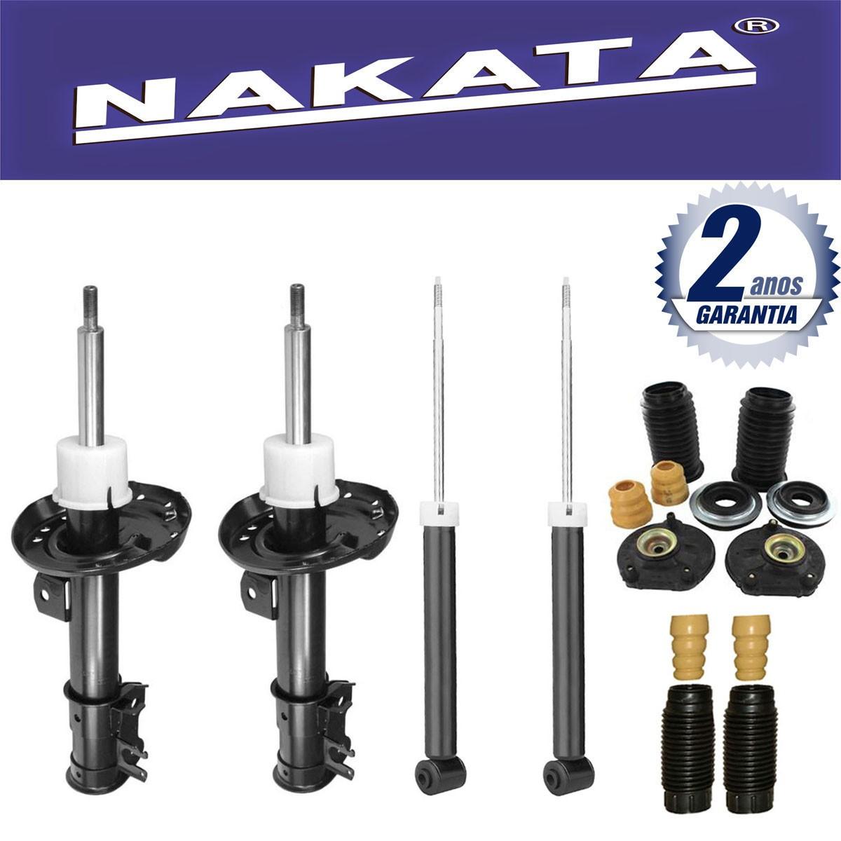Jogo 04 Amortecedores Nakata Punto 2007 Até 2012 (Exceto T-Jet) + Kit da Suspensão