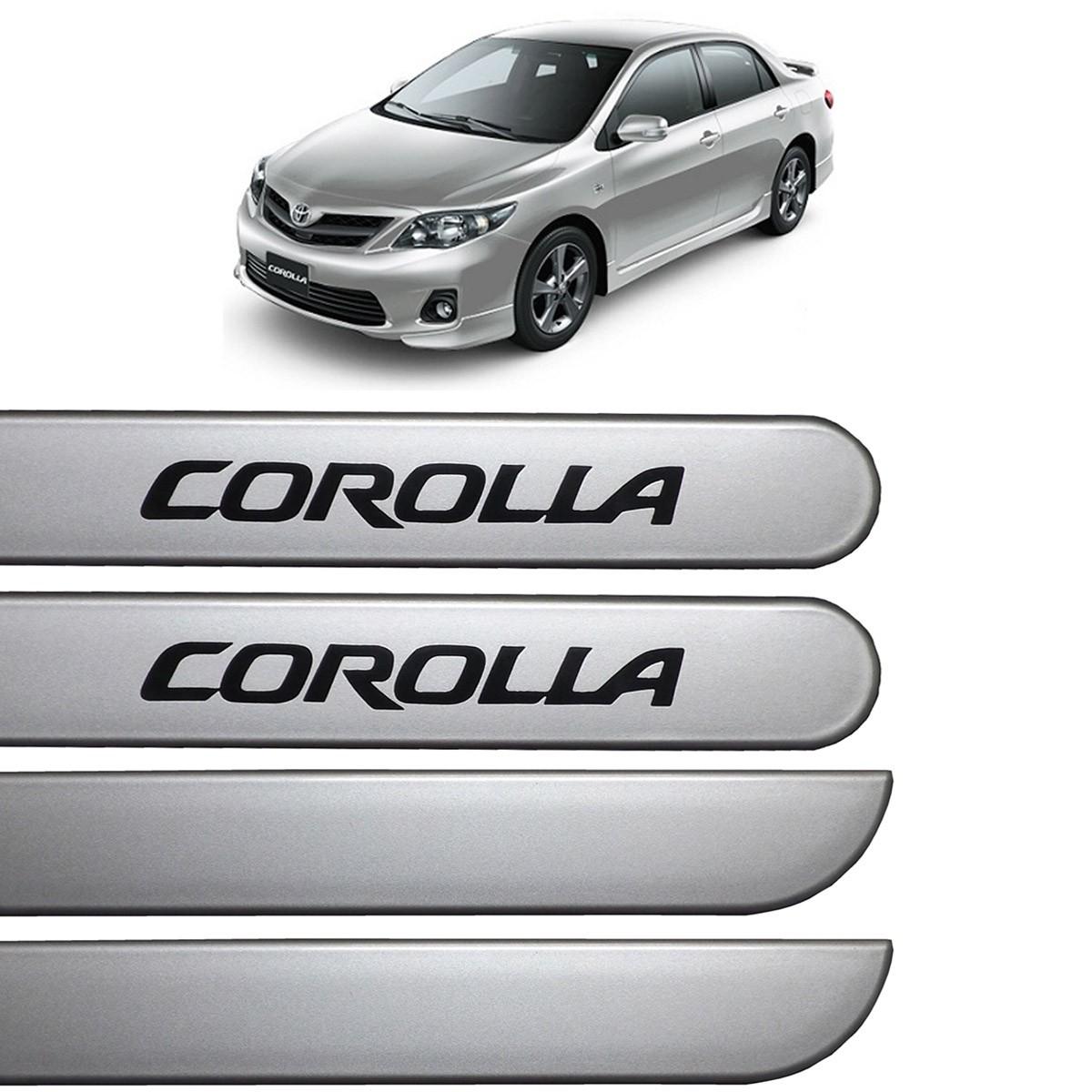 Jogo Friso Lateral Corolla 2009 até 2013 Prata Super Nova