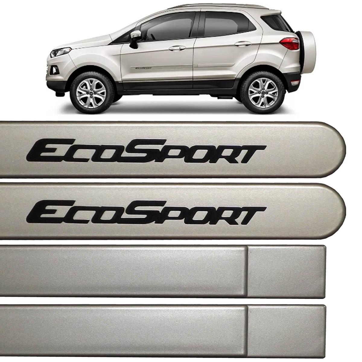 Jogo Friso Lateral Ecosport 2013 até 2016 Prata Riviera