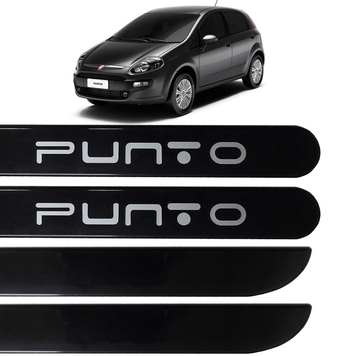 Jogo Friso Lateral Fiat Punto 2013 2014 2015 Preto Vulcano