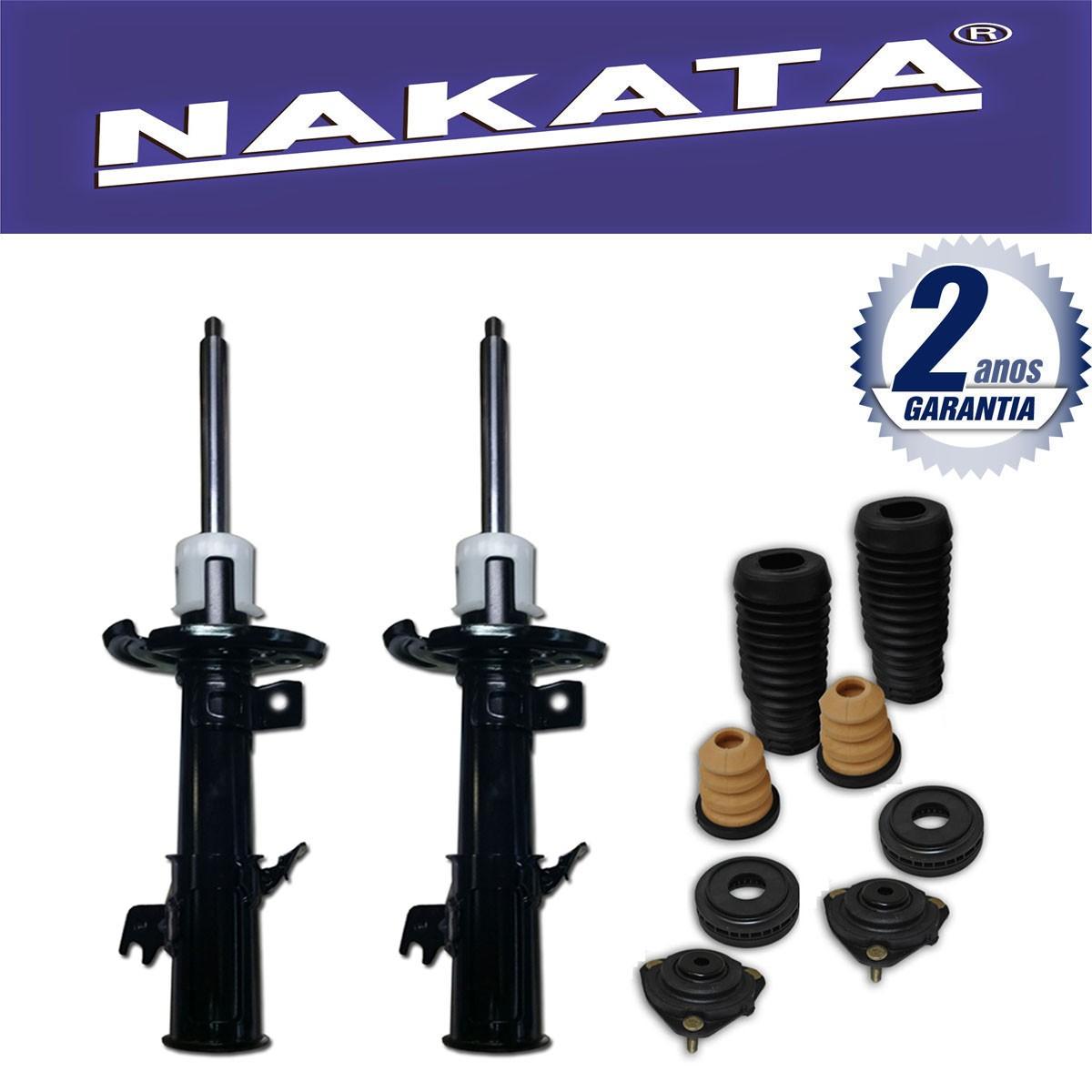 Par de Amortecedores Dianteiro Nakata New Fiesta 2010 Até 2015 + Kit da Suspensão