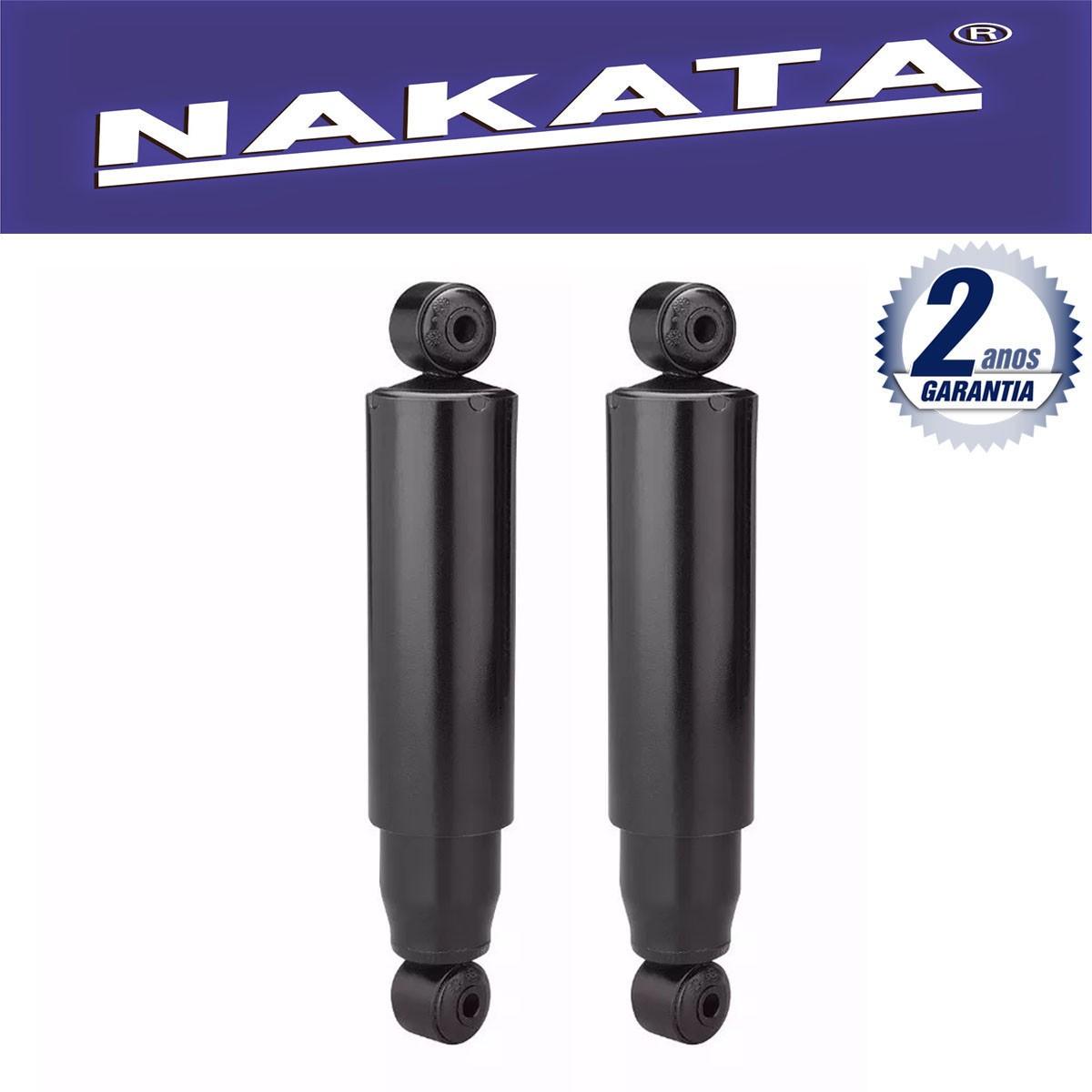 Par de Amortecedores Traseiro Nakata Ford Courier 1997 Até 2014