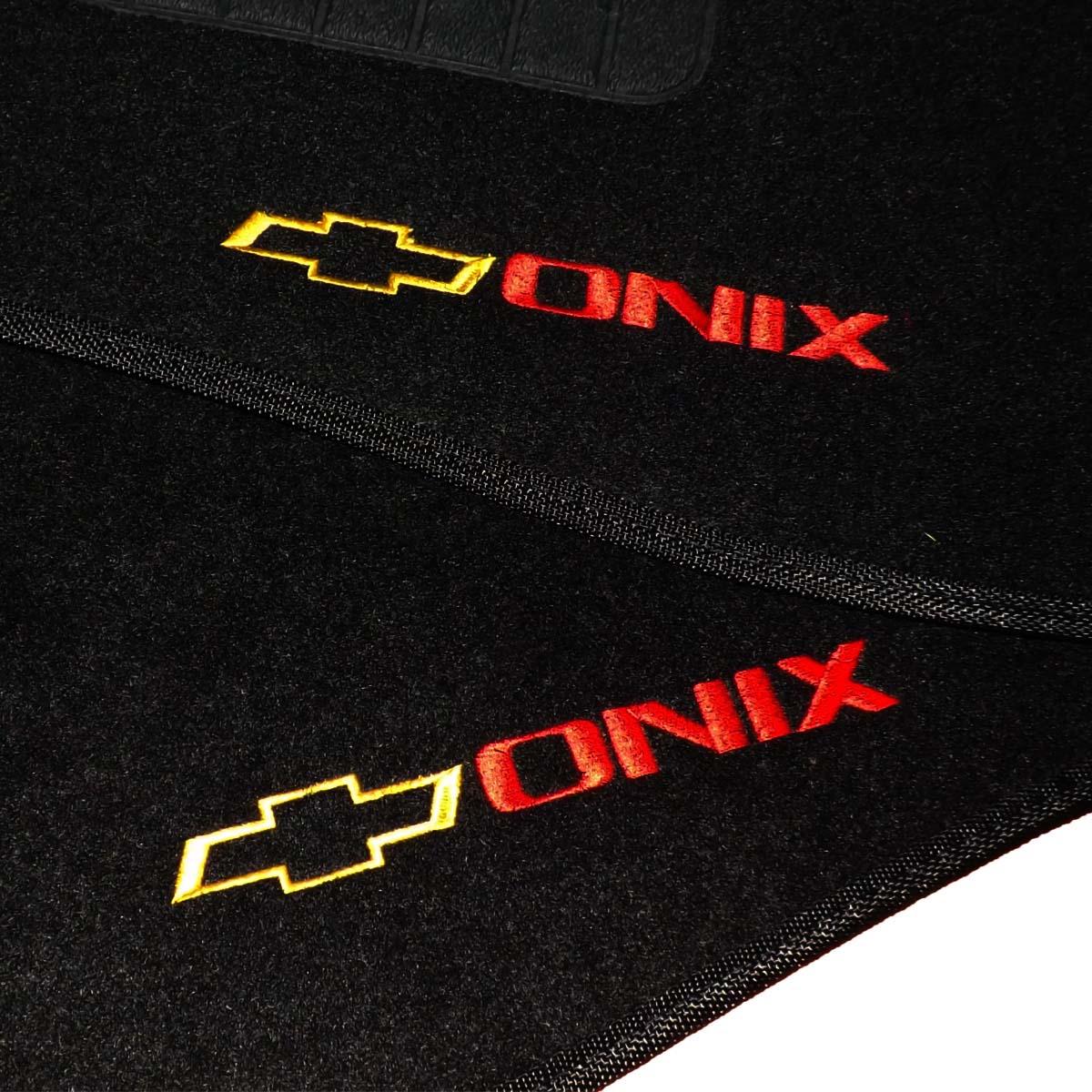 Tapete Carpete Personalizado Logo Bordada Onix 2012 até 2016