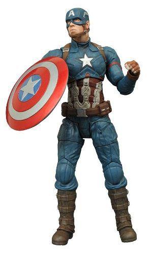 Captain America ( Capitão América ) - Civil War ( Guerra Civil ) - Marvel Select - Diamond Select Toys